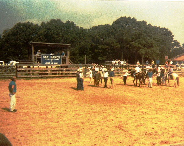Vintage 1991 rodeo barrel racing