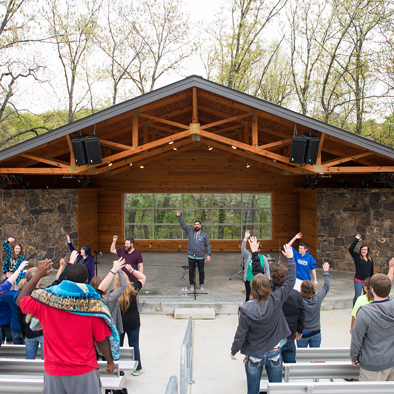 Outdoor amphitheater retreats